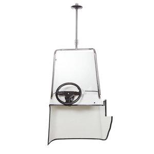 Styrpanel Classic 430-460 kpl med ruta, vindrutebåge med lanternstång